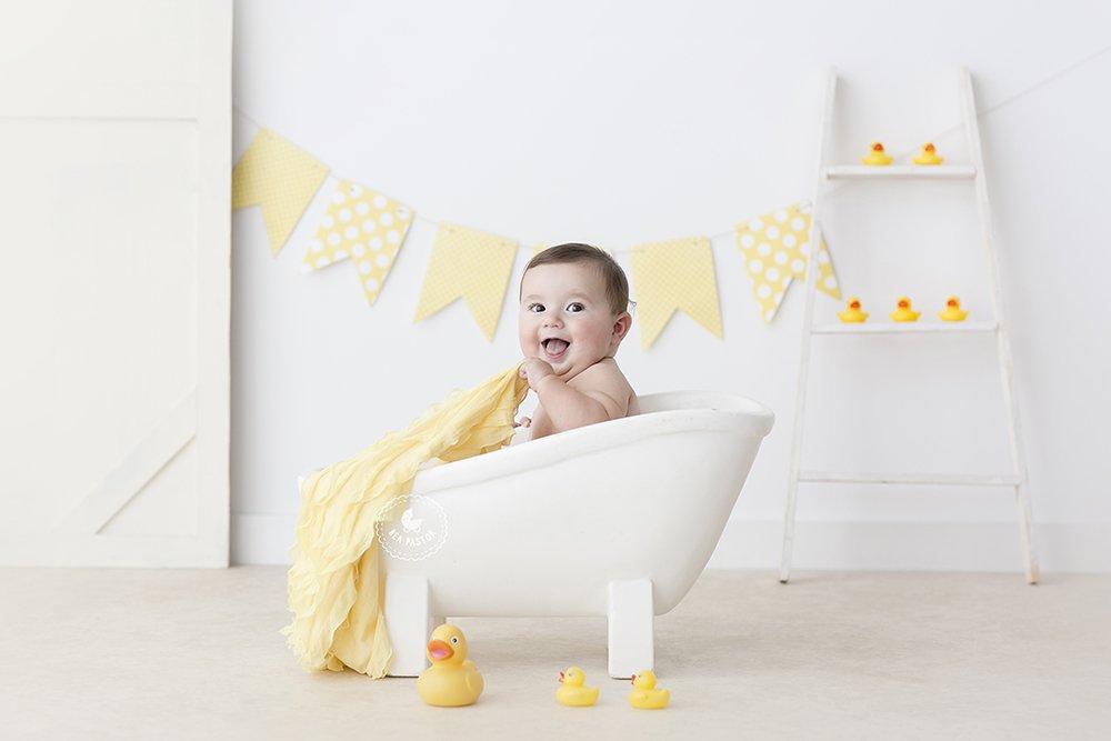 sesiones de bebes de 8 meses en estudio